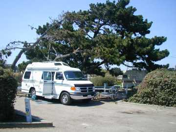 Van at Oceano County Campground